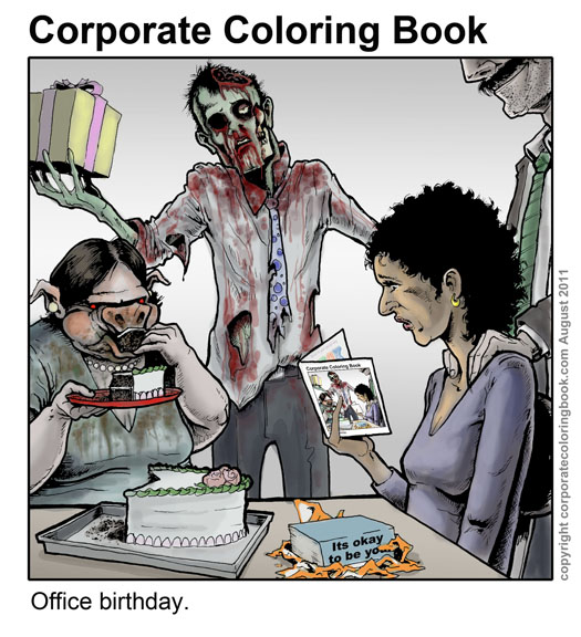 office birthday  download free card  corporate coloring book, Birthday card